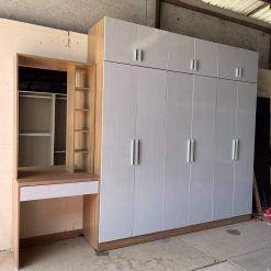 Mẫu bộ 2 món: tủ áo + bàn phấn gỗ công nghiệp GHF-6945