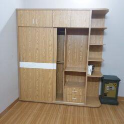 Tủ áo 2 cánh cửa lùa gỗ MDF chống ẩm GHF-6722