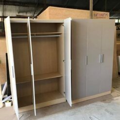 Tủ áo gỗ công nghiệp MDF chống ẩm 3 cánh GHF-6954