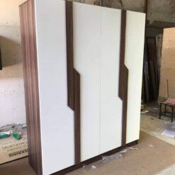 Tủ áo gỗ công nghiệp MDF chống ẩm 4 cánh GHF-7018