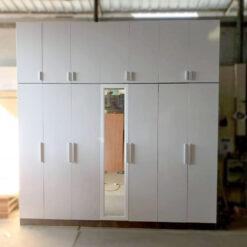 Tủ áo gỗ công nghiệp MDF chống ẩm 7 cánh có gương GHF-7078