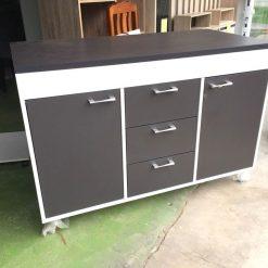 Tủ bếp gỗ công nghiệp MDF có bánh xe GHF-7218