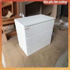 Tủ gỗ công nghiệp 3 ngăn kéo màu trắng GHF-6979