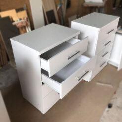 Tủ gỗ công nghiệp MDF chống ẩm 4 ngăn kéo màu trắng GHF-7137