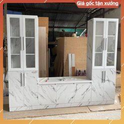 Tủ kệ tivi gỗ công nghiệp MDF chống ẩm vân đá GHF-6907