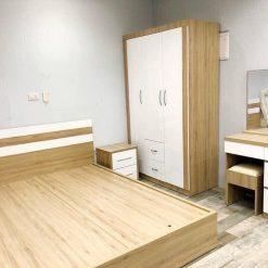 Combo phòng ngủ gỗ công nghiệp MDF chống ẩm phủ Melamine GHS-7878