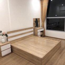 Giường gỗ công nghiệp MDF chống ẩm không ngăn kéo GHF-7302