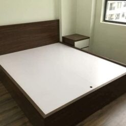 Giường gỗ công nghiệp MDF chống ẩm không ngăn kéo GHF-7308