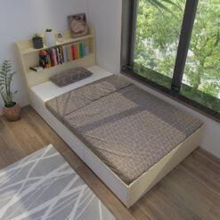 Giường liền kệ gỗ công nghiệp MDF chống ẩm 3 ngăn kéo GHF-7291