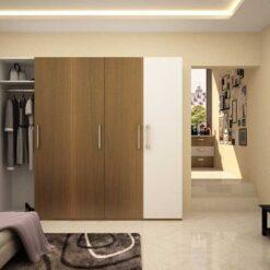 Tủ áo gỗ công nghiệp MDF chống ẩm 5 cánh GHF-7330